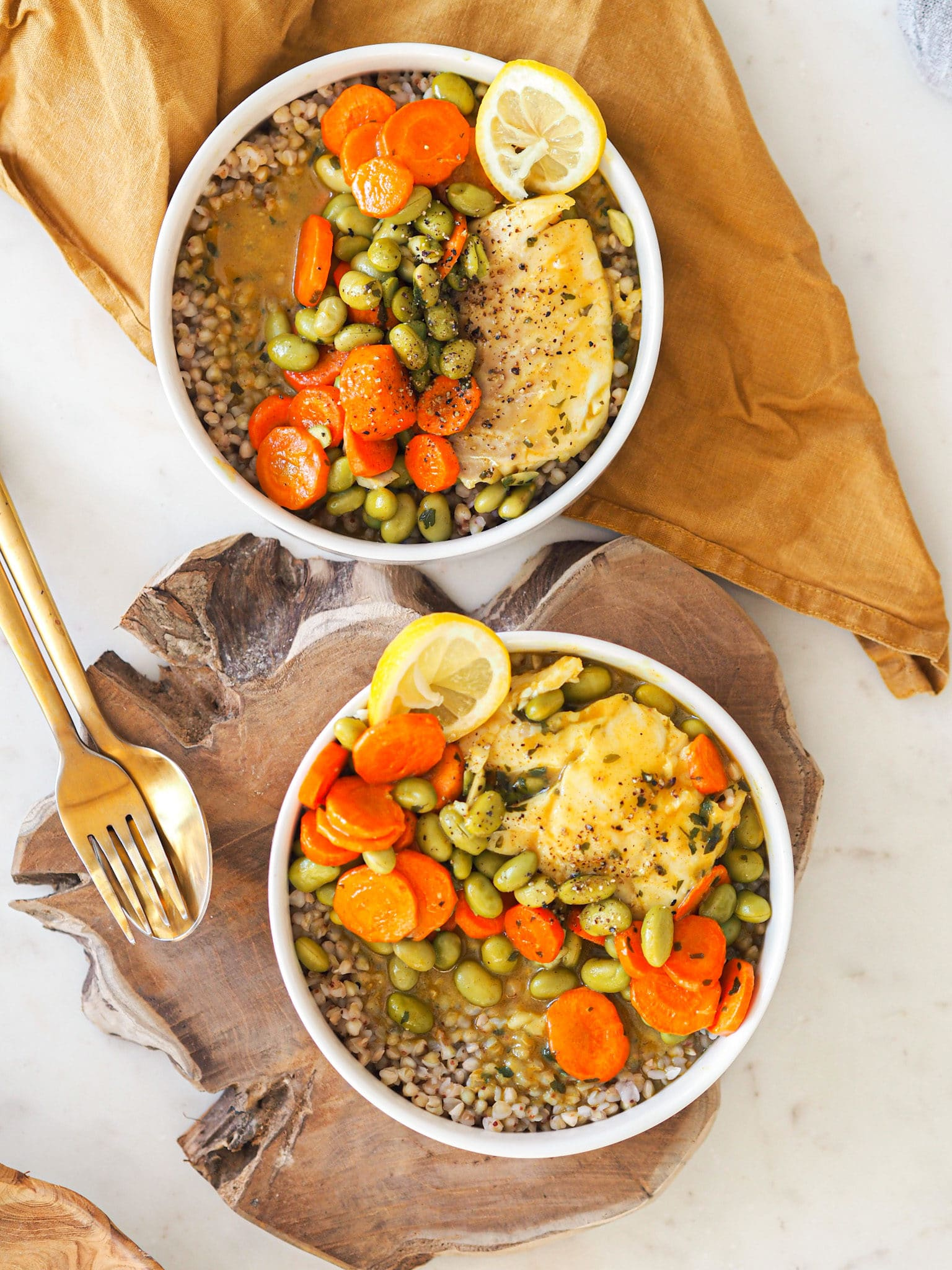 Poisson sarrasin sauce curry
