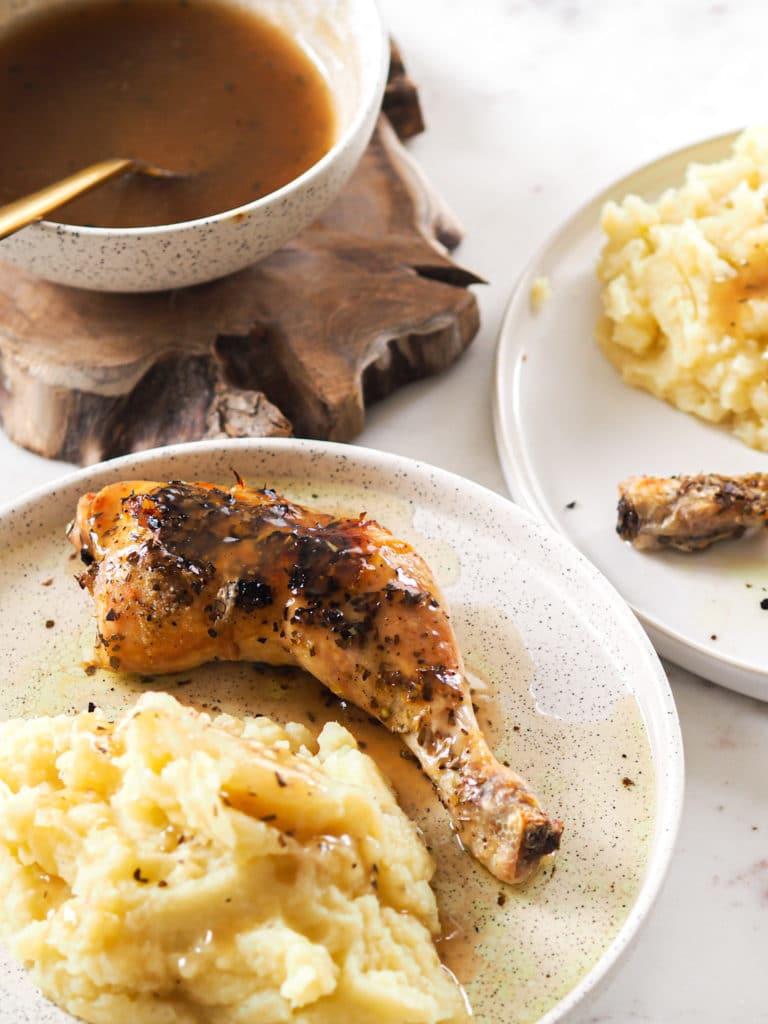 poulet et purée