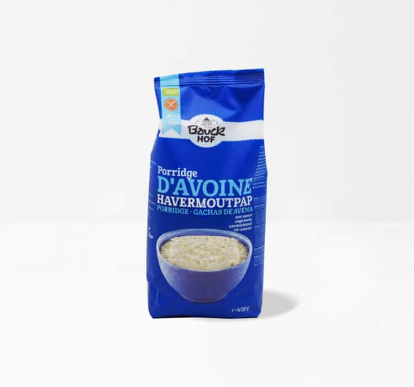 Porridge d'avoine sans gluten