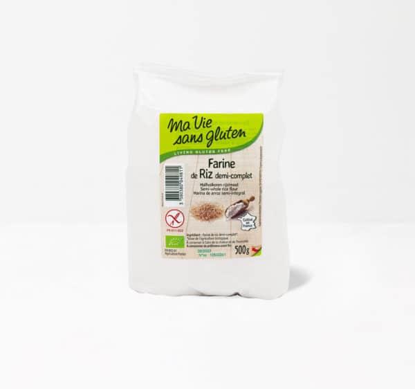 farine de riz demi complète